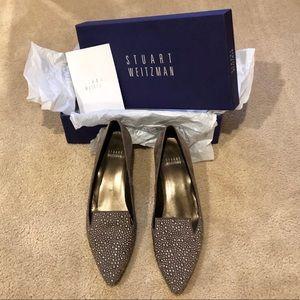 Stuart Weitzman Suede Studded Heels